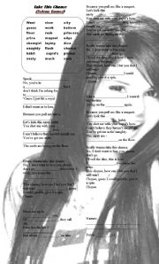 English Worksheets: take this chance SELENA GOMEZ