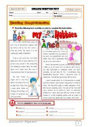 8th grade english worksheets