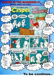 English Worksheets: COMIC- CASPER IN THE WANDERER #1
