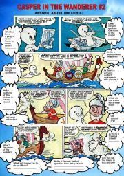 English Worksheets: COMIC- CASPER IN THE WANDERER #2