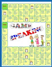 English Worksheet: Speaking activity - Revision Board Game