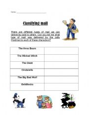 English Worksheets: Classifying types of Mail