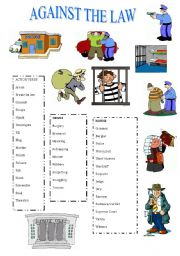 English Worksheets: AGAINST THE LAW
