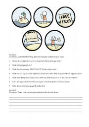 English Worksheets: Making Predictions and  Inferences
