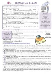 English Worksheet: SENDING AN E-MAIL