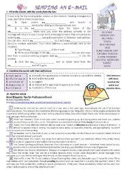 English Worksheets: SENDING AN E-MAIL