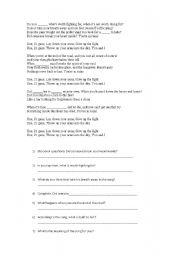 English Worksheets: 21 guns - green day - song worksheet