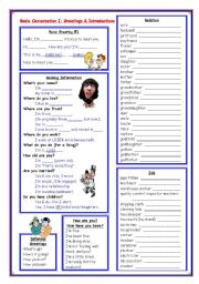 Basic conversation i greetings introductions family tree esl english worksheet basic conversation i greetings introductions family tree m4hsunfo