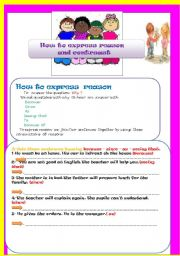 English Worksheets: Reason  and contrast