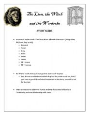 Printables The Lion The Witch And The Wardrobe Worksheets the lion witch and wardrobe worksheets davezan davezan