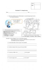 English Worksheets: Worksheet giving directioons