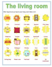 Superior English Worksheet: Objects In The Living Room Part 2