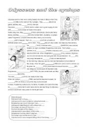 English Worksheets: Myth: Odysseus and the cyclops