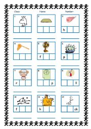 English Worksheets: CVC Frame with Answers (Short Vowels and Consonant m\u0026n)