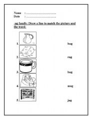ug word family this will help your students to read the words that ...