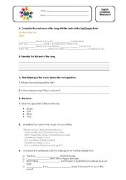 English Worksheet: Someone like you - Adele Worksheet