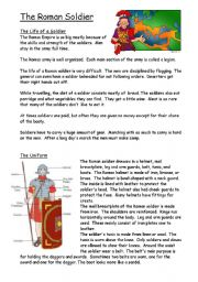 English Worksheets: Roman soldier and army