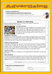 Vocabulary worksheets gt communication worksheets gt advertising