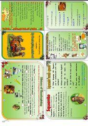 English Worksheets: My Thanksviging minibook