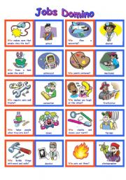 English Worksheets: WHO Domino