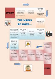 English Worksheets: WORLD OF WORK