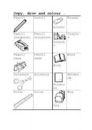 English Worksheets: Class materials