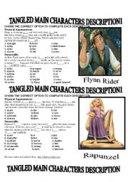 TANGLED MAIN CHARACTER´S DESCRIPTION
