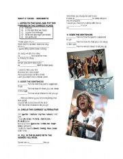English Worksheets: KARAOKE - WHAT IT TAKES - AEROSMITH
