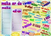 English Worksheet: make or do