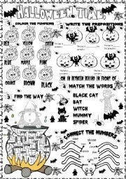 English Worksheets: halloween time