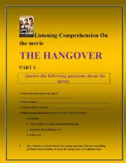 English Worksheets: The hangover movie listening comprehension