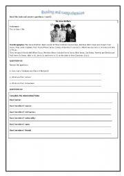 English Worksheets: The Jonas Brothers