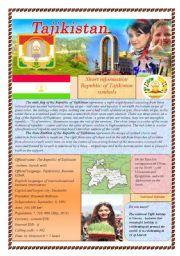 English Worksheets: Let´s meet: Tajikistan