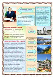 English Worksheets: Let�s meet: Tajikistan