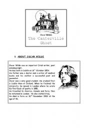 English Worksheet: Halloween story: the Canterville Ghost - part 1/4