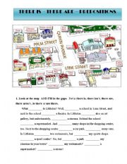 there is are and prepositions esl worksheet by lcarvalho. Black Bedroom Furniture Sets. Home Design Ideas