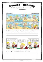 English Worksheet: Comics - Reading Activity 21