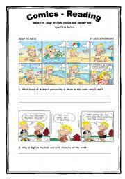 English Worksheets: Comics - Reading Activity 21