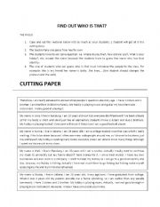 English Worksheets: FIND OUT WHO IS THAT?