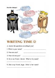 English Worksheets: read and answer the questions