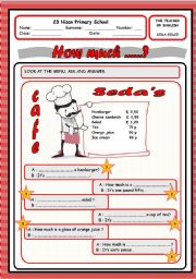 English Worksheet: how much...?