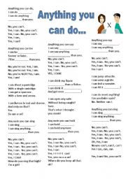 Any thing you can do I can do better - Comparatives - Song