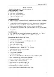 English Worksheets: Writing: When I met a difficulty