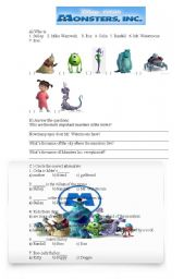 Monsters Inc Movie Activity