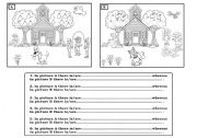 English Worksheets: SPOT THE DIFFERENCE