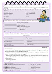 English Worksheets: Question Words - Activities