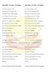 English Worksheets: Jason Mraz Parody