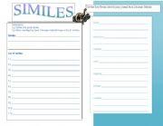 English Worksheets: Similies & Journal
