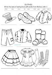 clothes vocabulary - ESL worksheet by suheii