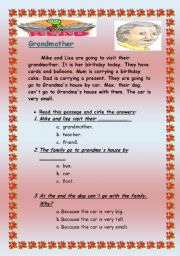 English Worksheets: Grandmother